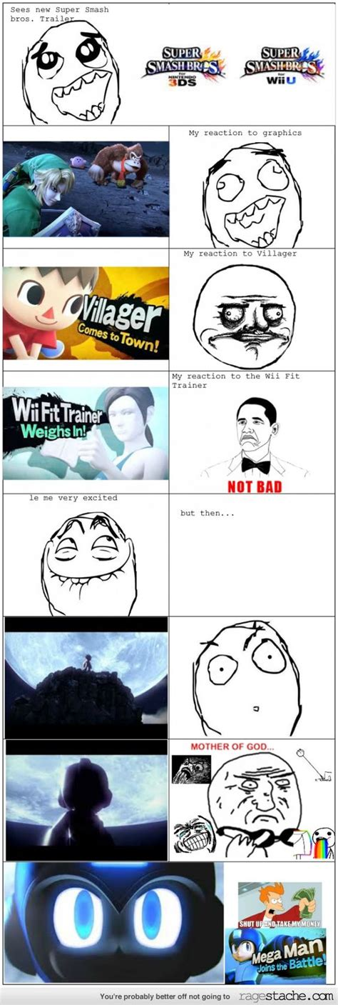 Smash Bros Memes - my super smash brothers wii u 3ds reaction admit it you all acted the same way humour