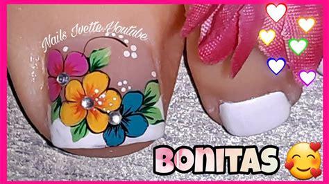 Ver más ideas sobre uñas con flores, manicura de uñas, disenos de unas. Decoración de uñas con 3 flores/uñas pintadas con flores/modelo de uñas PIE con flores - You ...