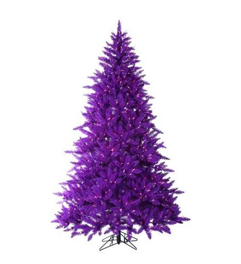 7 5 foot pre lit ash purple christmas tree with purple lights
