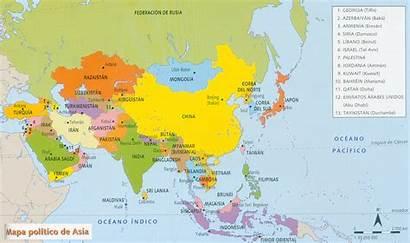 Mapa Asia Politico Politico Imprimir Ninos Preguntas