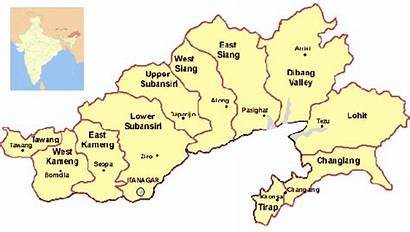 Arunachal Ligt Tibet Bhutan Groot Ligging China