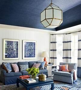 les tapis modernes 45 idees interessantes pour decorer With tapis moderne avec canapé et pouf assorti