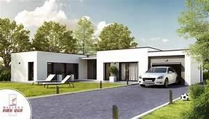decouvrir nos modeles de maison contemporaine With delightful plan maison en pente 2 exemples de plans de maisons en corse