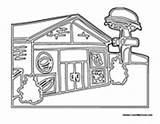 Restaurant Community Buildings Coloring Pages Building Hamburger Thru Drive Colormegood sketch template