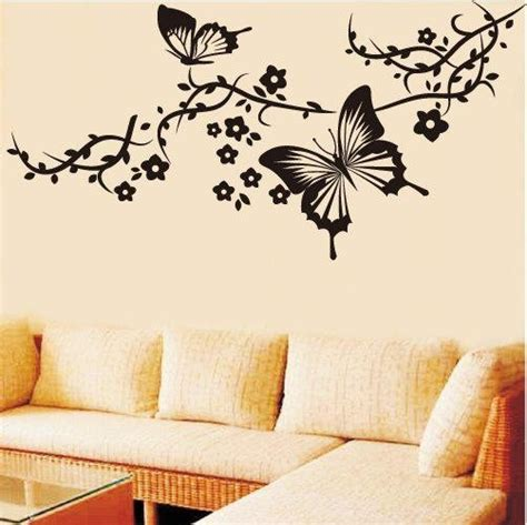 drawing decoration living room wall butterfly drawings Wall