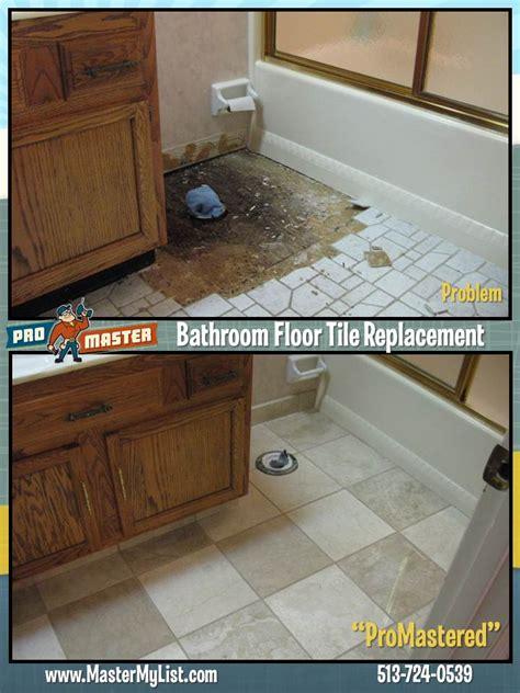 Repair Bathroom Floor by Cincinnati Tile Repair And Installation Flooring Repair