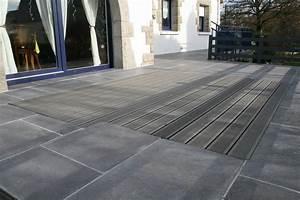 Pose Lame De Terrasse Composite Sans Lambourde : conception de terrasse en bois vannes terrasse et ~ Premium-room.com Idées de Décoration