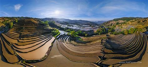 yuanyang rice terraces yuanyang hani rice terraces china 360 176 aerial panoramas