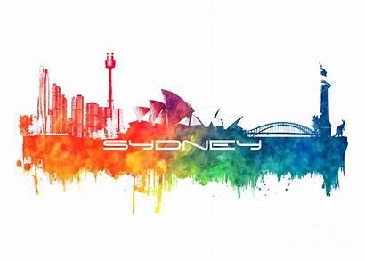 Sydney Skyline Jbjart Justyna Digital Jaszke Artwork