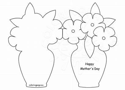 Card Mothers Happy Mother Template Coloring Cards