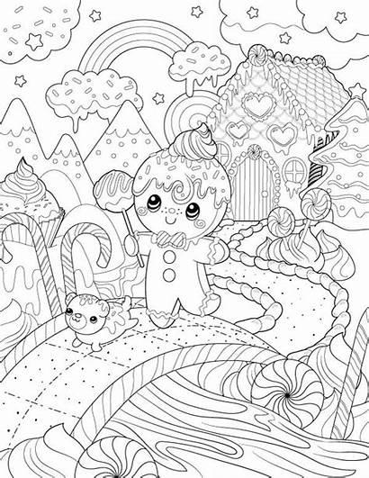 Coloring Drawing Pages Christmas Printable Para Colorear