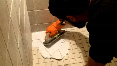 white tile wall how to use shower epoxy grout by home repair tutor