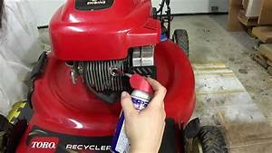 Winterizing A Toro Lawnmower With A Tecumseh 6 5 Hp Engine