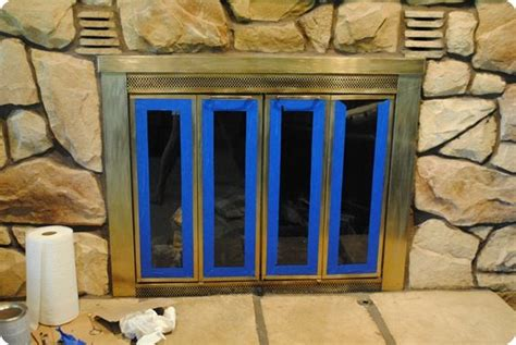 Painting Fireplace Doors by Painting Brass Fireplace Doors Diy Crafts