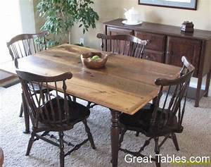 Wormy Chestnut Table with Cast Iron Legs - Reclaimed Wood