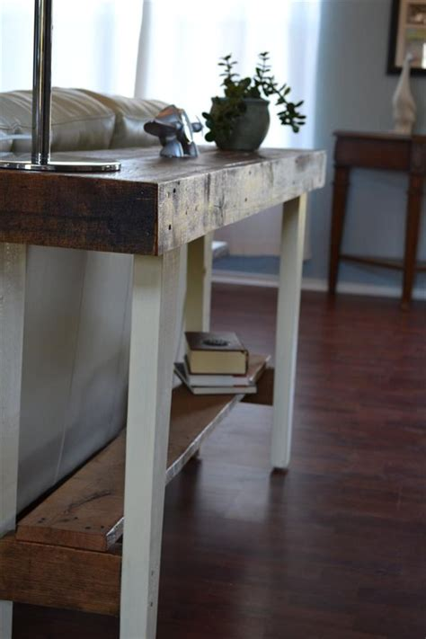 diy reclaimed wood sofa table pallet furniture plans