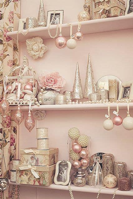 shabby chic christmas decorating pink christmas decor ideas christmas pinterest