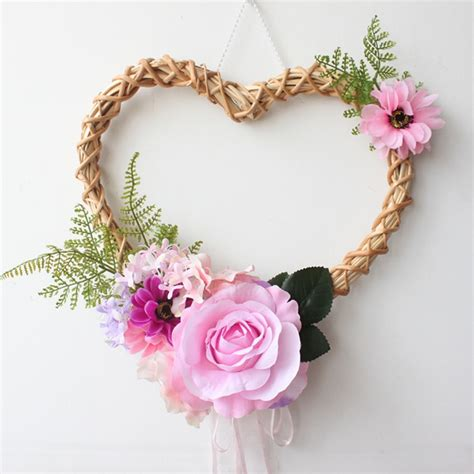 Check out our heart wall hanging selection for the very best in unique or custom, handmade pieces from our wall décor shops. Romantic Heart Shaped Rose Hanging Wreath Flowers Garland with Bamboo & Lace for Home Door Wall ...