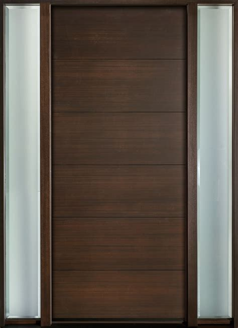 entry door  stock single   sidelites modern
