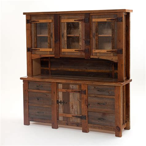 dining room hutch with glass doors heritage silver falls reclaimed barn wood hutch 3 glass doors