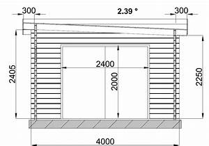 Garage en bois for Plan garage toit plat