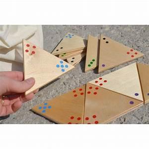 Jeux Geant Exterieur : jeu tridominos g ant en bois avec points de couleurs dominos triangles tactiles jeu personnes ~ Teatrodelosmanantiales.com Idées de Décoration