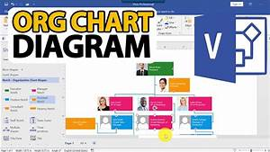 How To Draw Visio Org Chart Diagram  Step By Step Tutorial