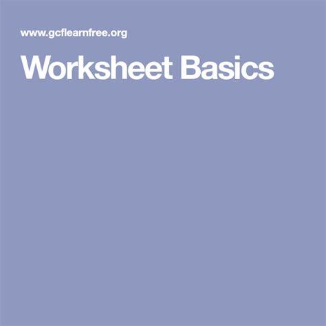 worksheet basics  images excel helpful hints basic