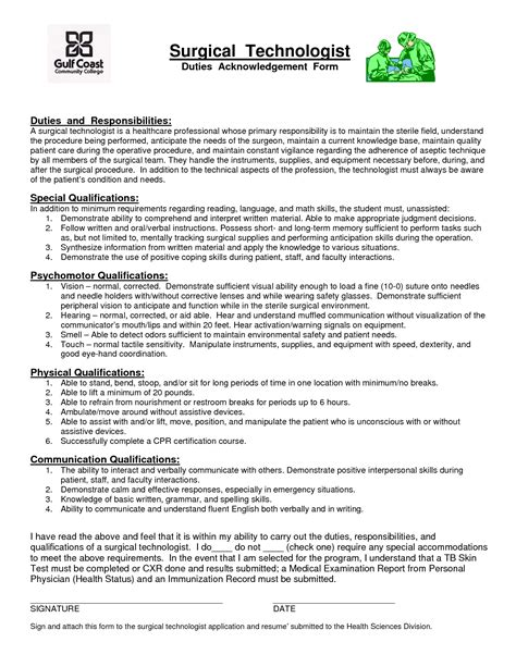 surgery tech sle resume healthcare resume sle radiologic technologist