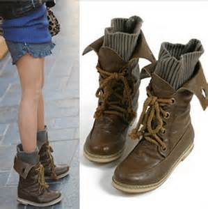 womens boots vintage style 2014 vintage motorcycle martin ankle boots for feminine winter knit boots leather