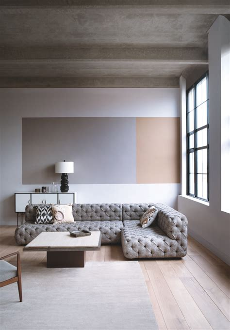 modern colour blocking   minimalist living room   great   add colour  interest
