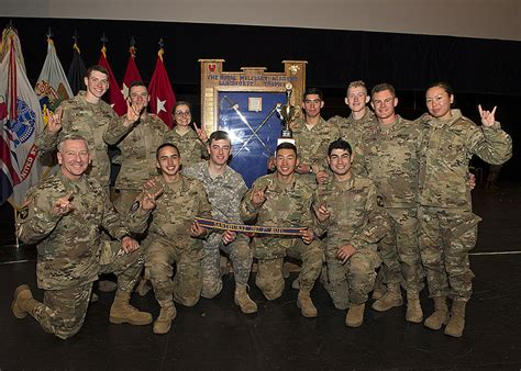 texas army rotc wins  place  rotc division