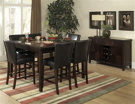 homelegance belvedere pc counter height table set
