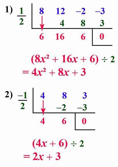 Division Synthetic Polynomial 2x Polynomials Examples Therefore
