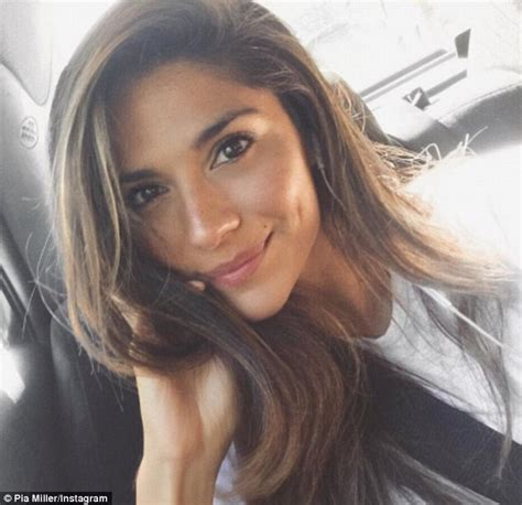 selfie beautiful woman pia miller takes selfie as she leaves home and away set