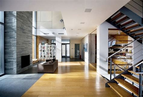 Contemporary House Interior by Contemporary House Interior With Wooden Furnitures