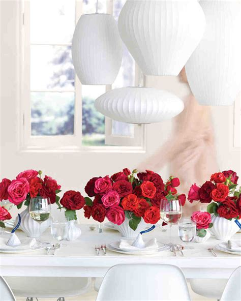 Red Wedding Centerpieces Martha Stewart Weddings