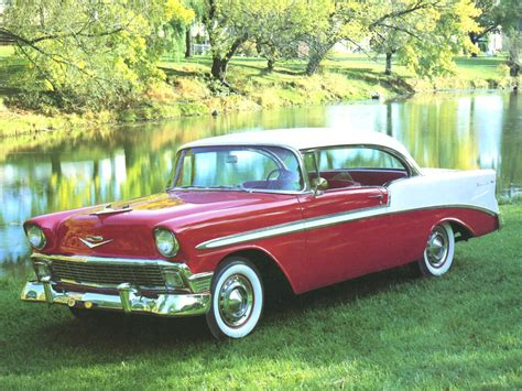 1956 Chevrolet Bel Air Sport Coupe Red White Fvl Cars