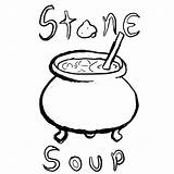 Soup Stone Coloring Clipart Drawing Printable Clipartmag Tgchan Thread Related Getdrawings Getcolorings Popular Coloringhome sketch template