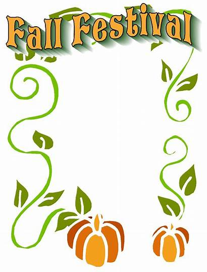 Fall Clip Festival Clipart Christian Flyer Border