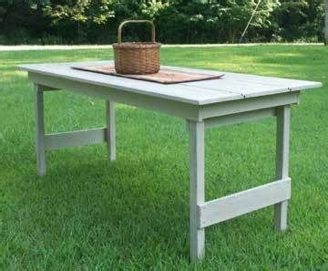 primitive harvest table  folding legs patternplan