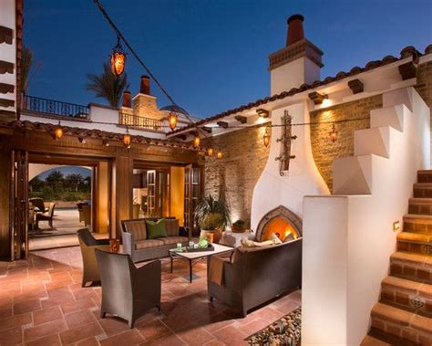 luxurious traditional spanish house designs amazing classic patio  fireplace spanish