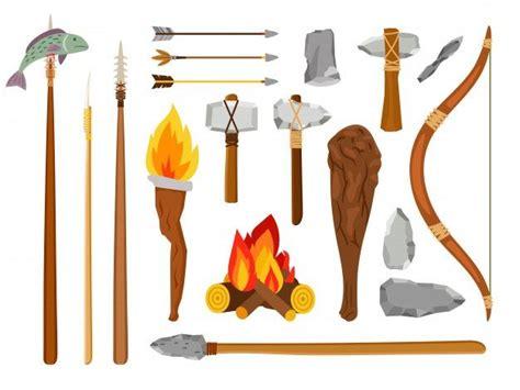 cartoon stone age tools   stone age tools stone