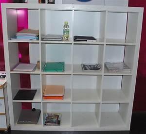 étagère Profondeur 15 Cm : 1 etagere de couleur blanche module cube a 25 casiers ~ Dailycaller-alerts.com Idées de Décoration