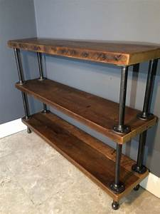On sale reclaimed wood shelf shelving unit by for Barnwood shelves for sale