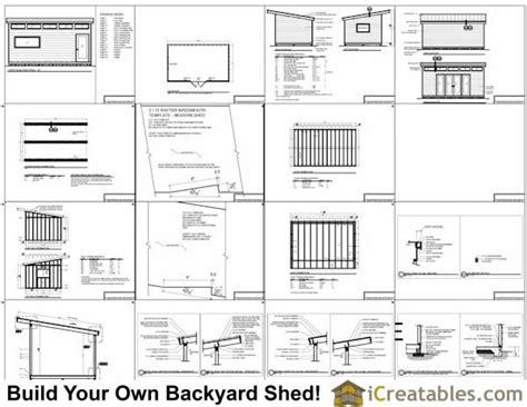 12x20 Shed Material List by 12x20 Modern Studio Shed Plans Center Doors