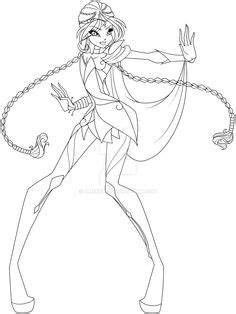 Winx club Trix Witch coloring pages for girls, printable
