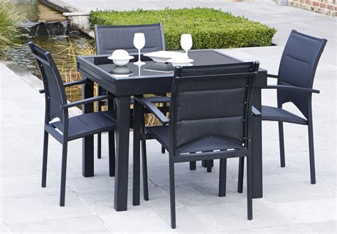 table de jardin intermarche salon de jardin modulo 1 table 4 fauteuils