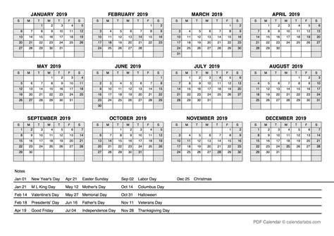 yearly calendar  holidays  printable