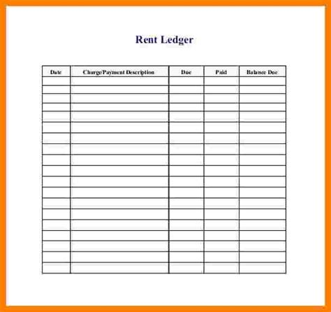 rental ledger template excel ledger review